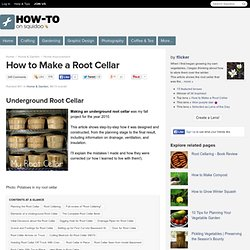 How to Make a Root Cellar