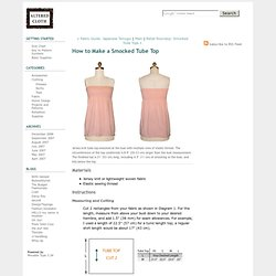 How to Make a Smocked Tube Top