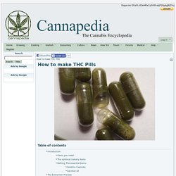How to make THC Pills