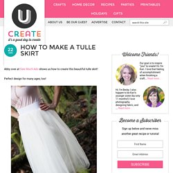 How to Make a Tulle Skirt - UCreate