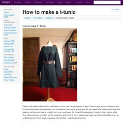 How to make a t-tunic - Empire