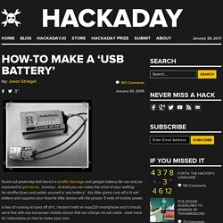 how-to make a 'usb battery'