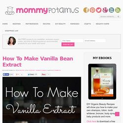 How To Make Vanilla Bean Extract - MommypotamusMommypotamus