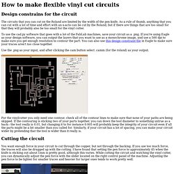 How to make vinyl cut PCBs