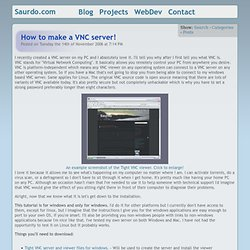 How to make a VNC server! - Saurdo.com
