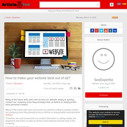 How to make your website best out of all? Article
