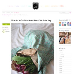 How to Make Your Own Reusable Tote bag