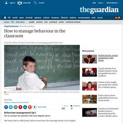 How to manage behaviour in the classroom