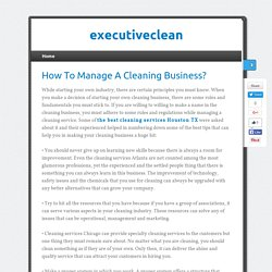How To Manage A Cleaning Business?