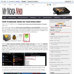How to manage views on your Nokia N900?