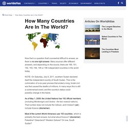 How Many Countries in the World