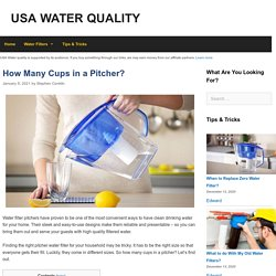 How Many Cups in a Pitcher?