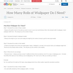 How Many Rolls of Wallpaper Do I Need?