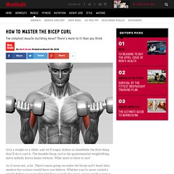 How to master the bicep curl