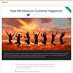How We Measure Customer Happiness