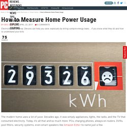 How to Measure Home Power Usage