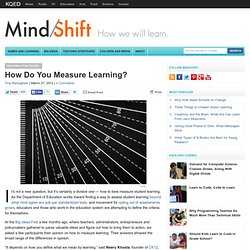 How Do You Measure Learning?