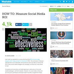 HOW TO: Measure Social Media ROI
