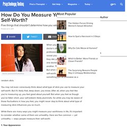 How Do You Measure Your Self-Worth?