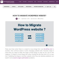 How to Migrate WordPress website?