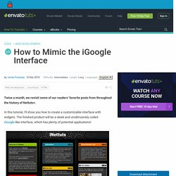 How to Mimic the iGoogle Interface