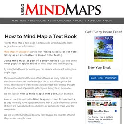 How to Mind Map a text book