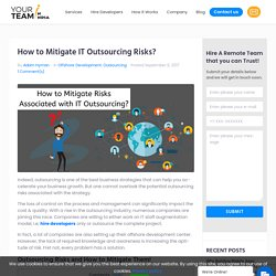 How to Mitigate IT Outsourcing Risks?
