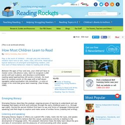 How Most Children Learn to Read