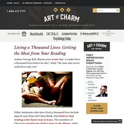 How to Get the Most out of Your Reading - The Art of Charm
