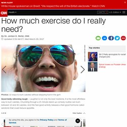 How much exercise do I really need?