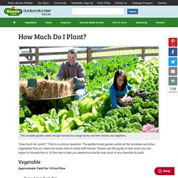 How Much Do I Plant? - Bonnie Plants
