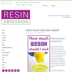 How much resin do I need? - Resin Obsession