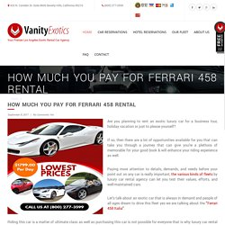 How Much You Pay for Ferrari 458 Rental - -