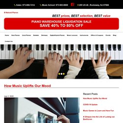 How Music Uplifts Our Mood - B Natural Pianos & Music School - Medium