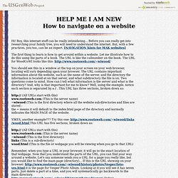 How to navigate on a website - HELP ME I AM NEW