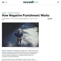 Using Negative Punishment