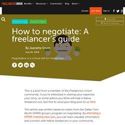How to negotiate: A freelancer's guide