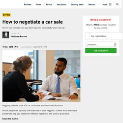 How to Negotiate a Car Sale
