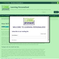 How NOT To Do Personalized Learning