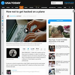 How not to get hacked on a plane