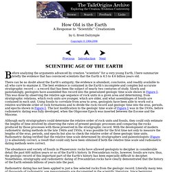 How Old is the Earth: Scientific Age of the Earth