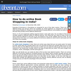 How to do online Book Shopping in India?