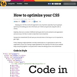 How to optimize your CSS