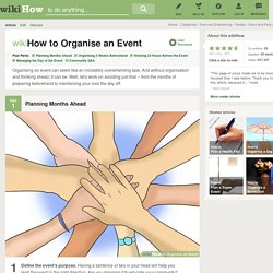How to Organise an Event