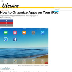 How to Organize Apps on Your iPad