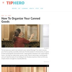 How To Organize Your Canned Goods
