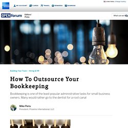 How To Outsource Your Bookkeeping