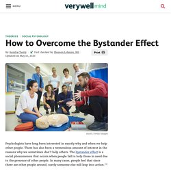 Online source on How to Overcome the Bystander Effect