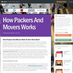 How Packers And Movers Works