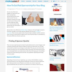 How To Get Paid Sponsorship For Your Blog